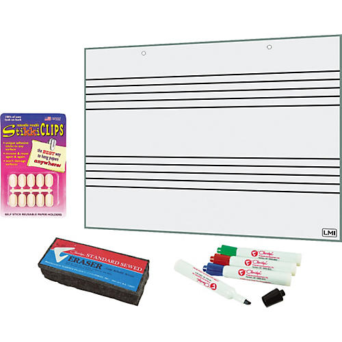 LMI Drywipe Laminated Chart-Size Staff Paper Kit