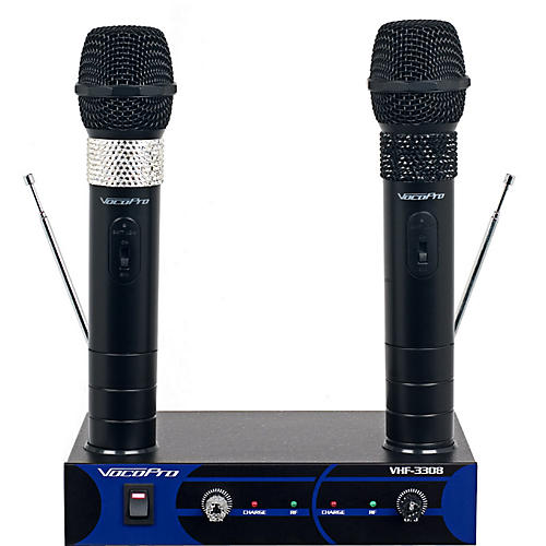 vocopro dual channel vhf wireless microphone set musician 39 s friend. Black Bedroom Furniture Sets. Home Design Ideas