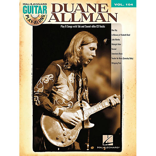Hal Leonard Duane Allman - Guitar Play-Along Volume 104 (Book/CD)