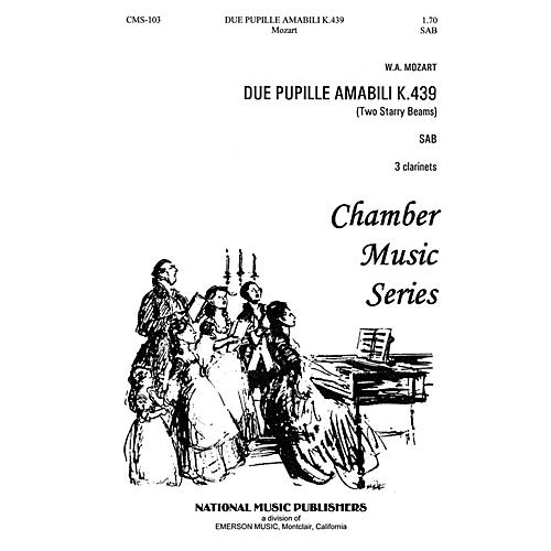 Hal Leonard Due Pupille Amabili SAB composed by Robert Carl