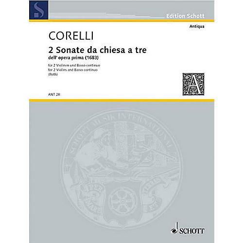 Schott Music Due Sonate Schott Series Composed by Arcangelo Corelli Arranged by Hermann Roth