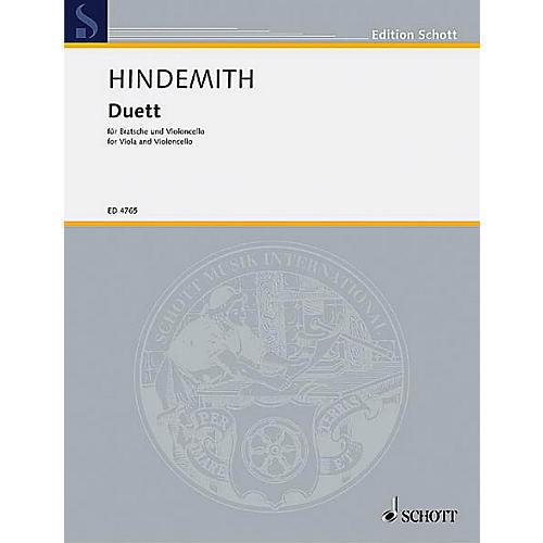 Schott Music Duet (1934) Schott Series Composed by Paul Hindemith