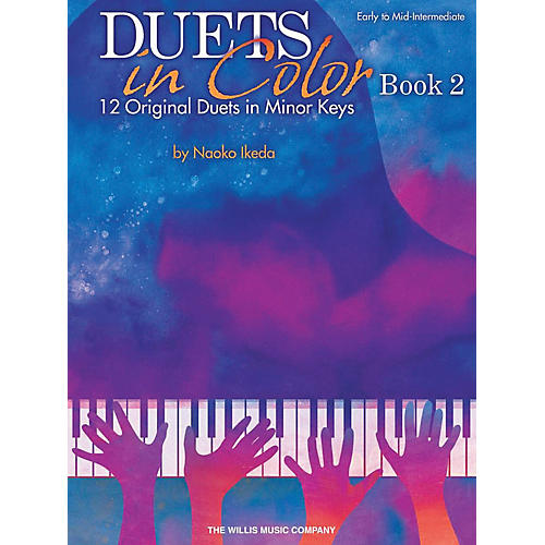 Willis Music Duets in Color - Book 2 (12 Original Duets in Minor Keys) Willis Book by Naoko Ikeda (Early to Mid-Int)