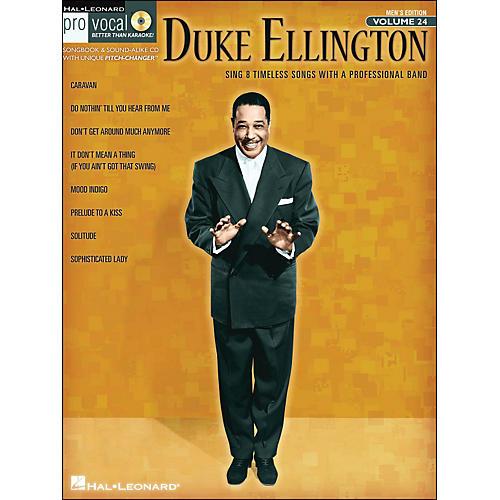 Hal Leonard Duke Ellington - Pro Vocal Songbook for Male Singers Volume 24 Book/CD