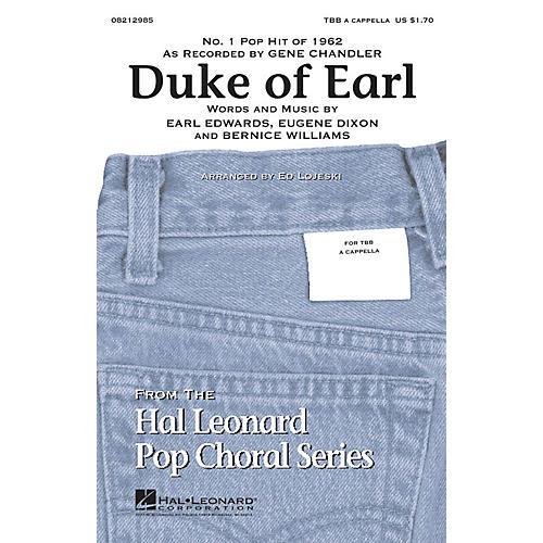 Hal Leonard Duke of Earl TBB arranged by Ed Lojeski