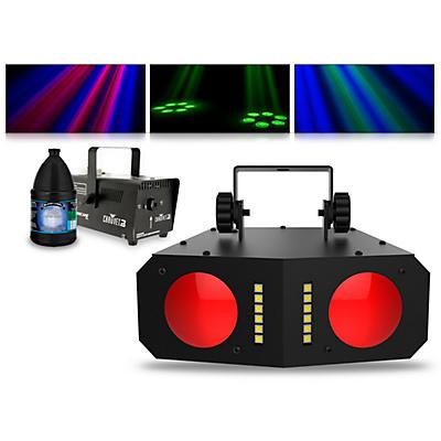 CHAUVET DJ Duo Moon with Hurricane 700 Fog Machine and Juice