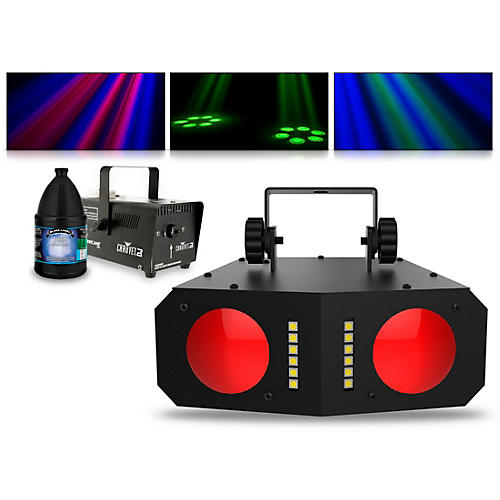 CHAUVET DJ Duo Moon with Hurricane 700 Fog Machine and Juice