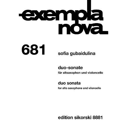 Sikorski Duo Sonata Alto Saxophone and Cello (Exempla Nova 681) Score & Parts by Gubaidulina