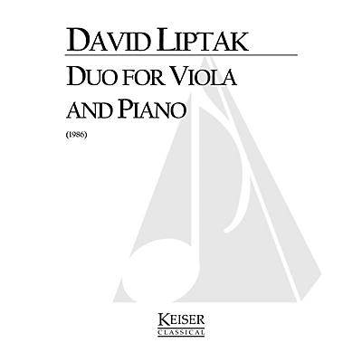 Lauren Keiser Music Publishing Duo (Viola with piano) LKM Music Series Composed by David Liptak