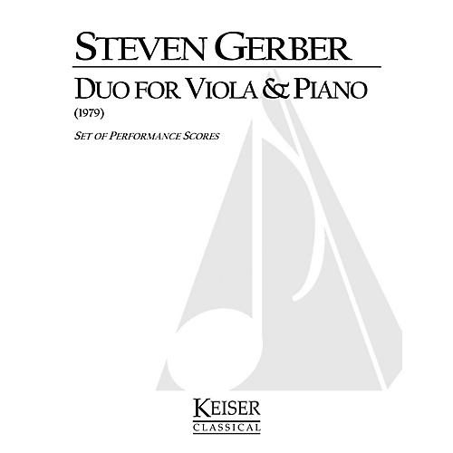 Lauren Keiser Music Publishing Duo for Viola and Piano LKM Music Series Composed by Steven Gerber