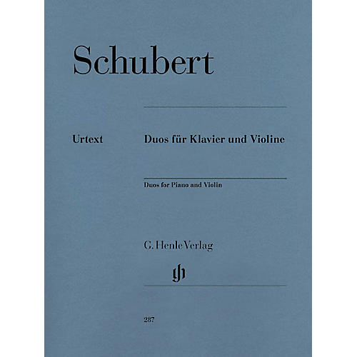 G. Henle Verlag Duos for Piano and Violin Henle Music Folios Series Softcover