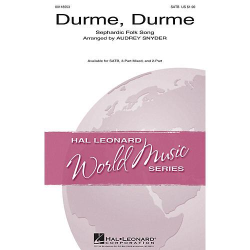 Hal Leonard Durme, Durme 2-Part Arranged by Audrey Snyder