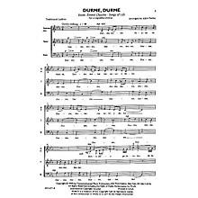 Transcontinental Music Durme, Durme (Sleep, Sleep) SATB arranged by Alice Parker