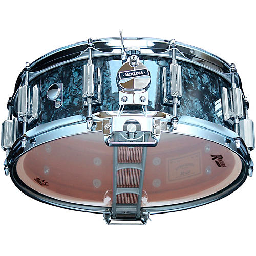 Rogers Dyna-Sonic Snare Drum with Beavertail Lugs 14 x 5 in. Black Diamond Pearl