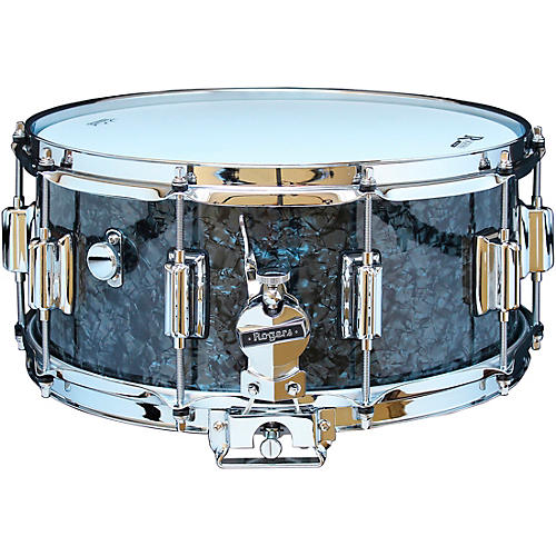 Rogers Dyna-Sonic Snare Drum with Beavertail Lugs 14 x 6.5 in. Black Diamond Pearl
