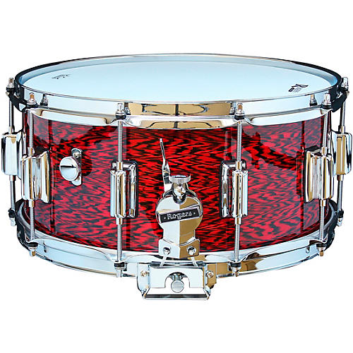 Rogers Dyna-Sonic Snare Drum with Beavertail Lugs 14 x 6.5 in. Red Onyx