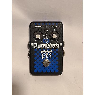 EBS DynaVerb High Dynamics Stereo Reverb Bass Effect Pedal