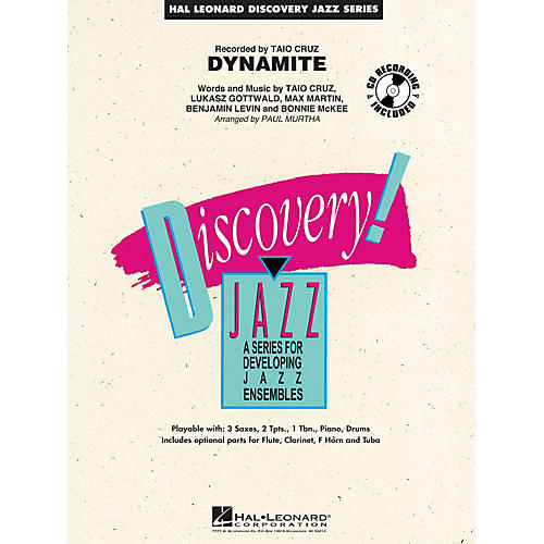 Hal Leonard Dynamite Jazz Band Level 1-2 by Taio Cruz Arranged by Paul Murtha