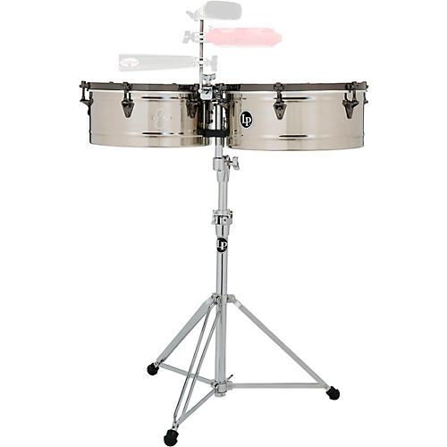 LP E-Class Timbale Set with Stand and Black Nickel Hardware