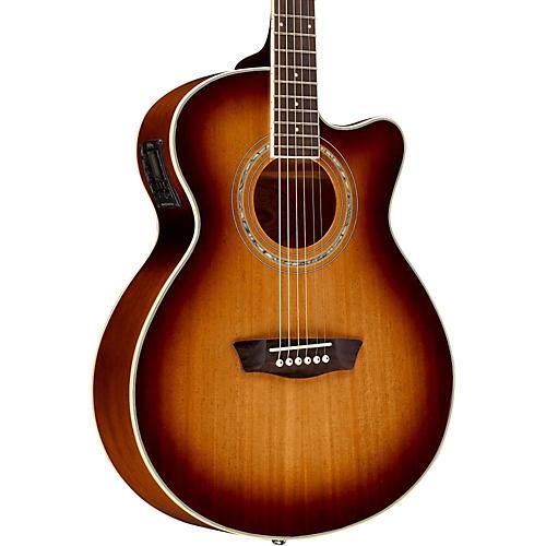 Washburn EA14MTEB Mini Jumbo Mahogany Acoustic-Electric Guitar