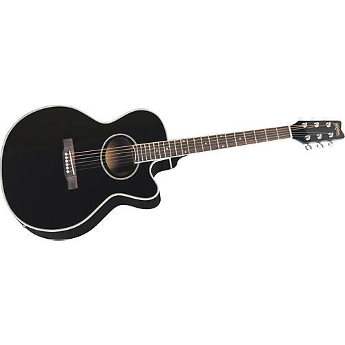 Washburn EA8B Cutaway Acoustic-Electric Guitar (Black)