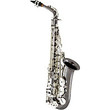 EAS640 Professional Alto Saxophone Black Nickel Plated Body with Silver Plated Keys