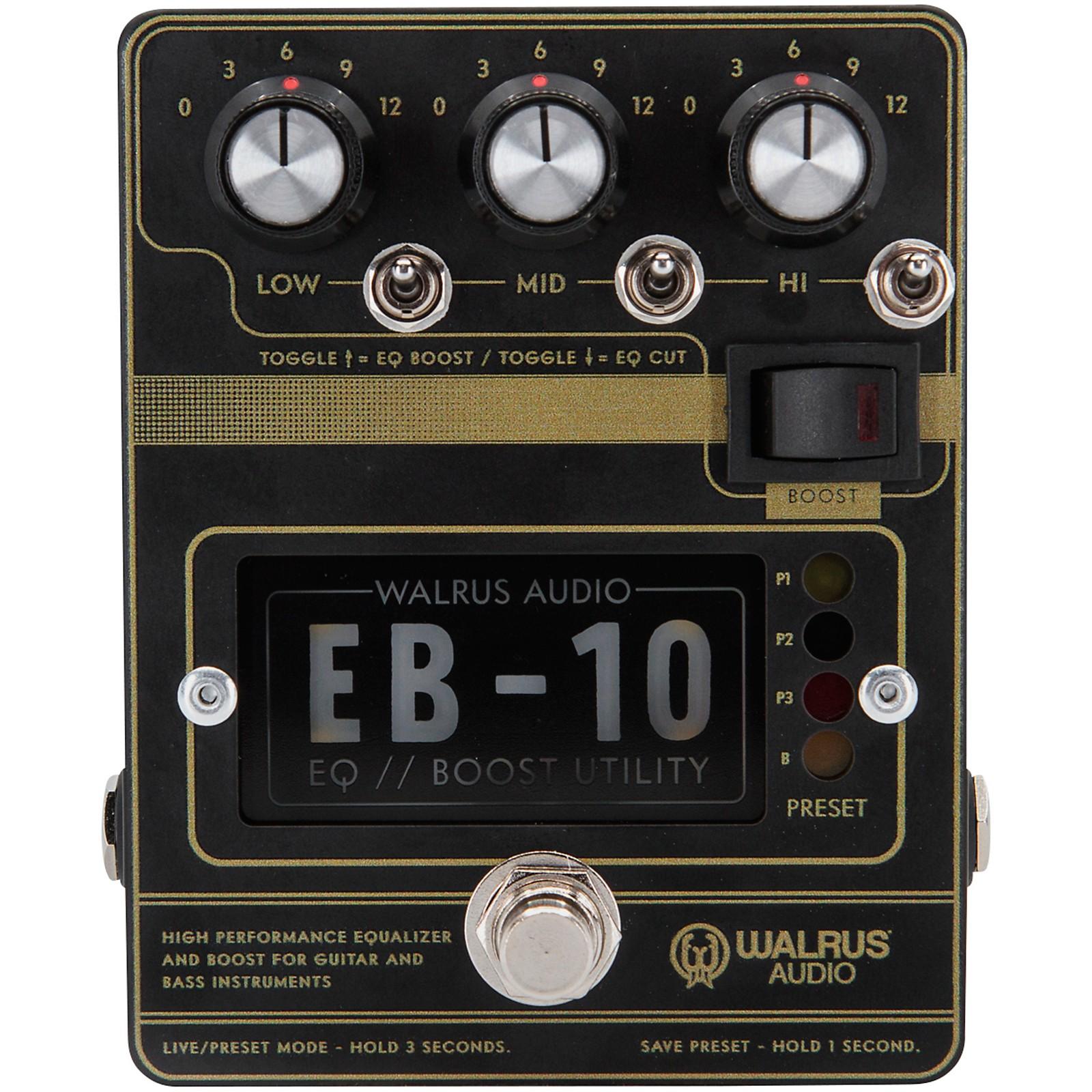 Walrus Audio EB-10 Preamp/EQ/Boost Effects Pedal