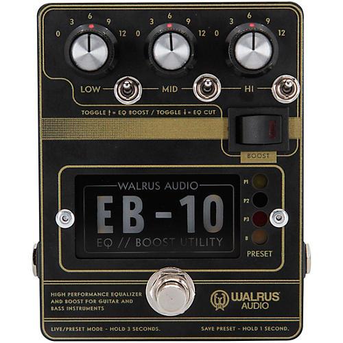 Walrus Audio EB-10 Preamp/EQ/Boost Effects Pedal Black