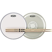 Evans EC Reverse Dot Snare Batter and Snare Side Head Pack With Free Pair of Promark Sticks