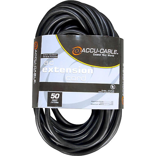 American DJ EC163 16 Gauge IEC Power Extension Cord 3 ft. 50 ft.