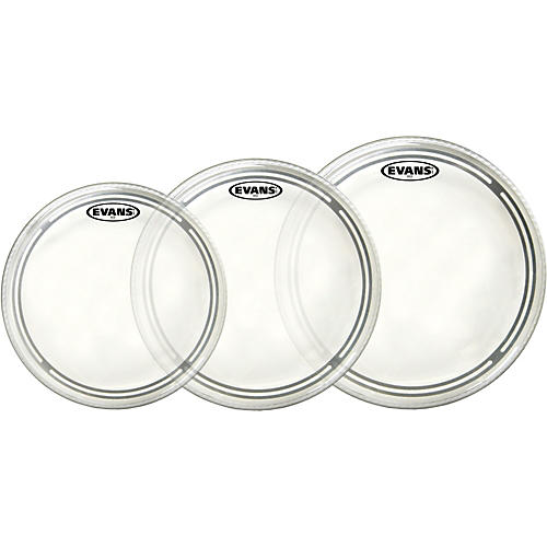 Evans EC2 Clear 10/12/14 Fusion Drum Head Pack