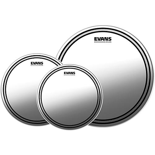 Evans EC2S Clear Tom Heads with Free 14 in. HD Dry Snare Head
