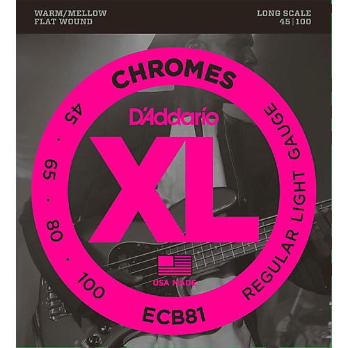 d 39 addario ecb81 xl chromes flatwound bass strings musician 39 s friend. Black Bedroom Furniture Sets. Home Design Ideas