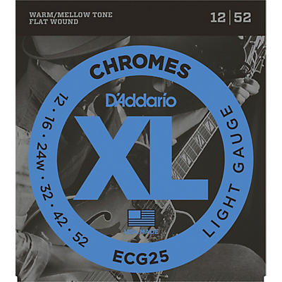 D'Addario ECG25 Chromes Light Electric Guitar Strings