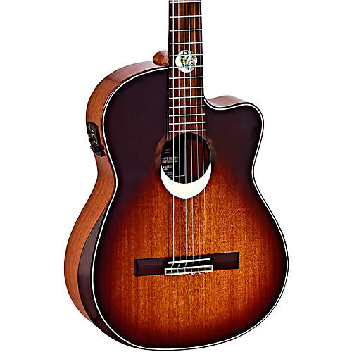 Ortega ECLIPSESU-C/E Classical Acoustic-Electric Guitar Brown Sunburst