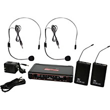 Open Box Galaxy Audio EDXR/38SS EDX Dual-Channel Wireless System with Two Headset Microphones