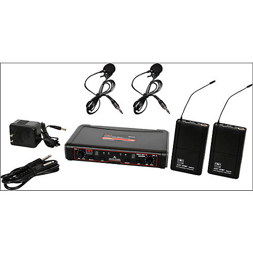 Galaxy Audio EDXR/38VV Dual-Channel Wireless Lavalier System Band N Black