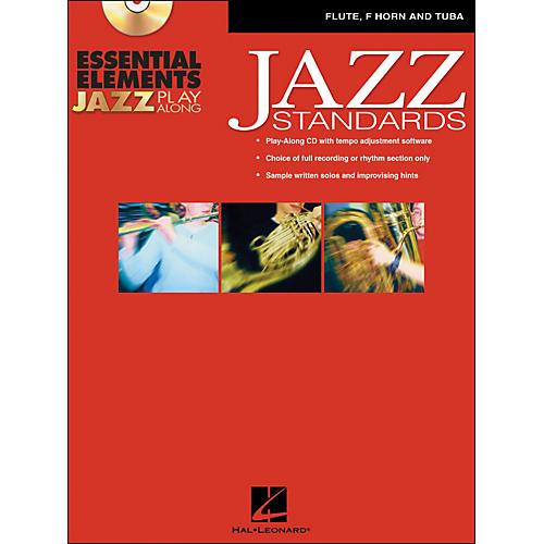 Hal Leonard EE Jazz Play Along: Jazz Standards Flute, F Horn And Tuba Book/CD-Rom