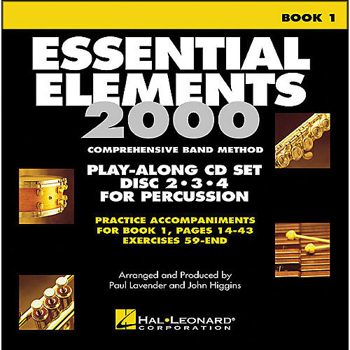 Hal Leonard EE2000 Play Along Trax Book. 1 - Discs 2, 3, & 4 for Percussion