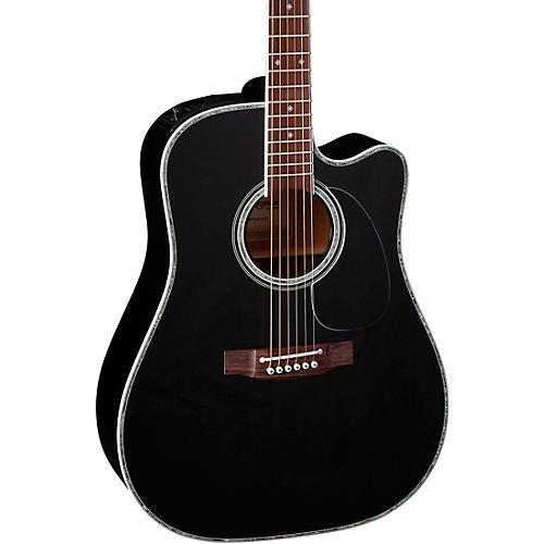 Takamine EF341DX Acoustic-Electric Guitar Black