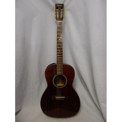 Takamine EF408 Acoustic Electric Guitar Wine Red