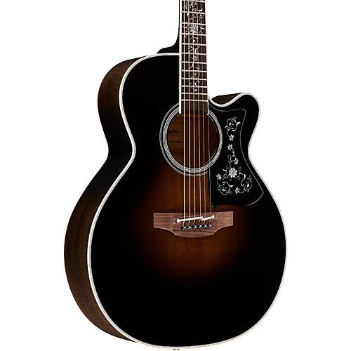 Takamine EF450C Thermal Top Acoustic-Electric Guitar Transparent Black Sunburst