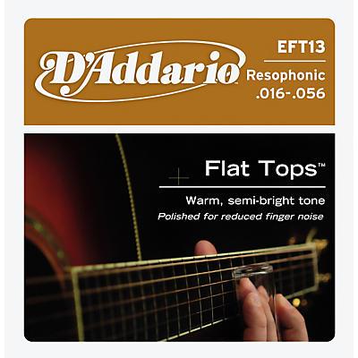 D'Addario EFT13 Flat Top PB Resophonic Acoustic String Set
