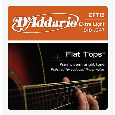 D'Addario EFT15 Flat Top PB Extra Light Acoustic Guitar Strings