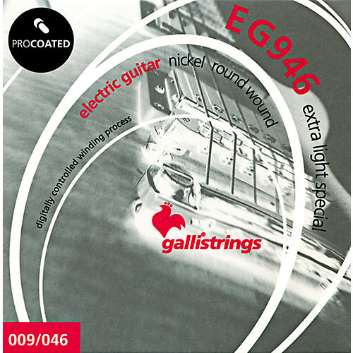 Galli Strings EG0946 PROCOATED Extra Light Special Electric Guitar Strings 9-46
