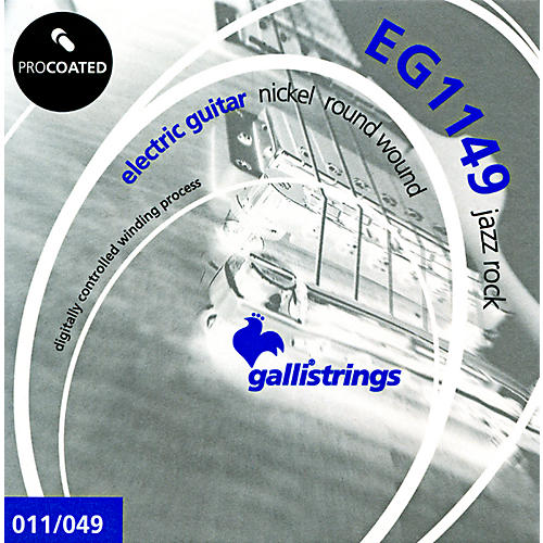 Galli Strings EG1149 PROCOATED Jazz Rock Electric Guitar Strings 11-49
