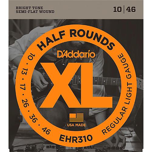 D'Addario EHR310 Half Round Regular Light Electric Guitar Strings