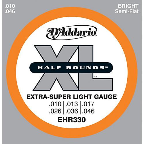 D'Addario EHR330 Half Round Extra Super Light Electric Guitar Strings