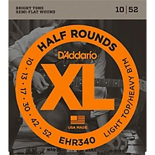 D'Addario EHR340 Half Round Light Top Heavy Bottom Electric Guitar Strings