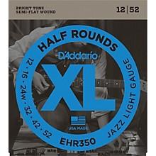 D'Addario EHR350 Half Round Jazz Light Electric Guitar Strings